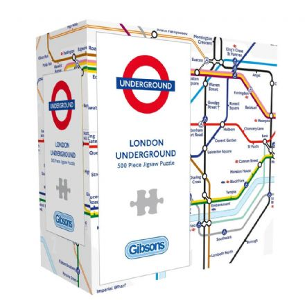 TFL London Underground Map 500 Piece Gibsons Jigsaw